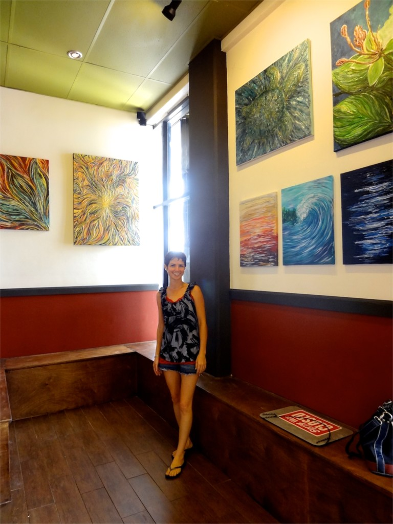 Michelle Pier, featured artist at Pika's Cafe Guam