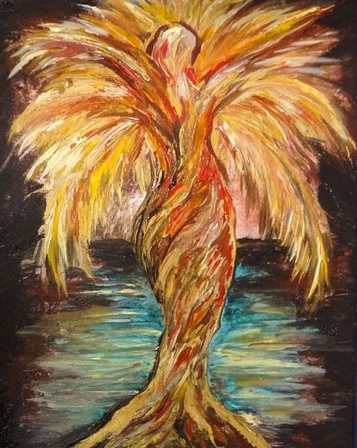 Coconut Fire Goddess Painting