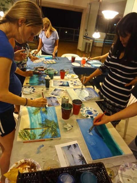Host your own private painting party on guam creative indeed for Private paint party