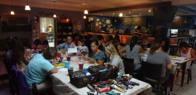 Mom's Art & Wine Night a Ton of Fun at Guma' Tasa!