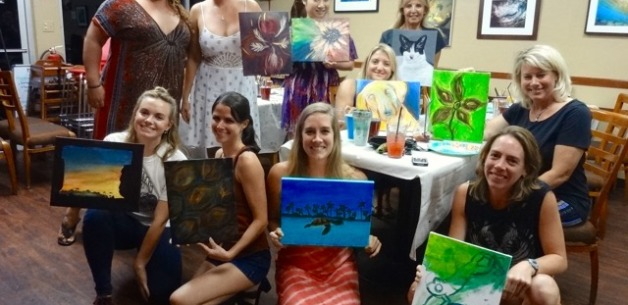 Art Night at MoSa's Joint Restaurant Full of Creativity!