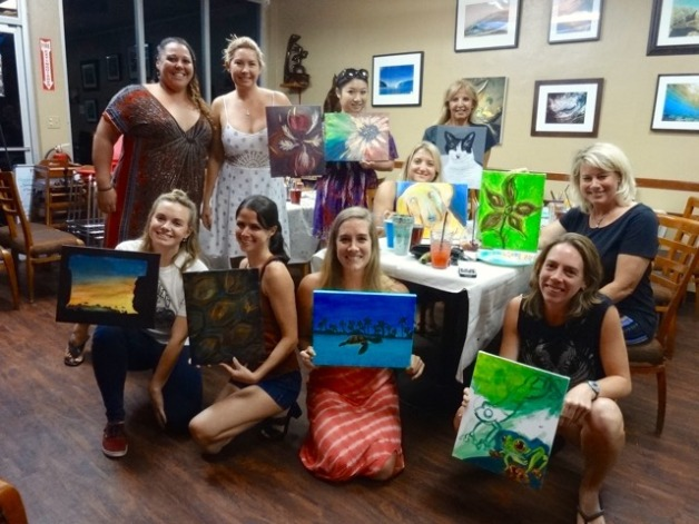 Art & Wine Night At MoSa's Joint