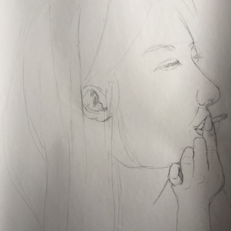 Smoking Sketch