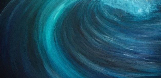 A Burst of Painting Creations: Abstract Water, Floral, & Wave