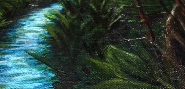 Latest Creation: Moonlit Guam Jungle Tree & River