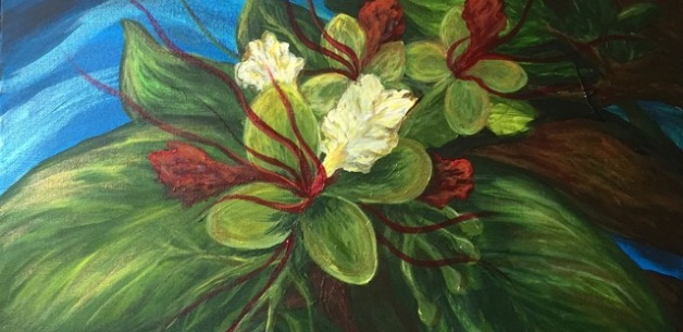 Native Flowers of Guam 2-piece Painting Project