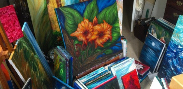 New Art Stuffs on the Easel & in the Sketchbook
