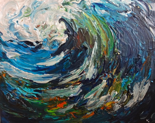Abstract Wild Wave
