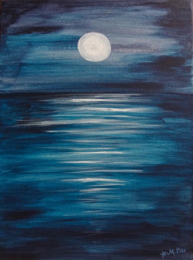Peaceful Moon on Sea