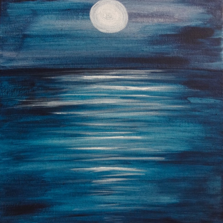 Peaceful Moon on Sea