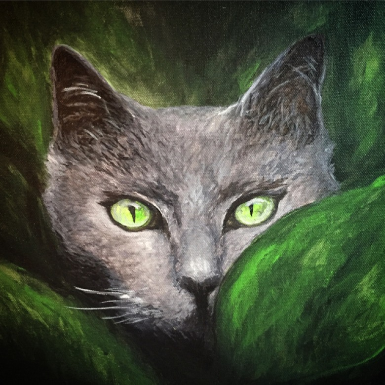 Jungle Eyes Cat Commission