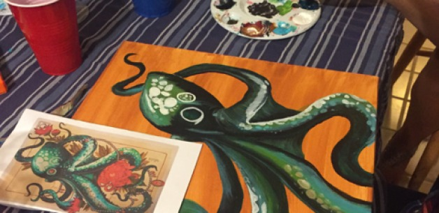 Last Creative Session Painting Party for Awhile!