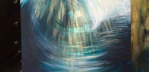 Divine Wave Painting from Start to Finish