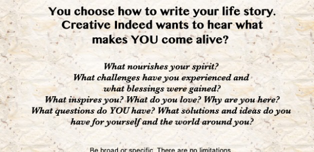 What Makes YOU Come Alive? Submit your story