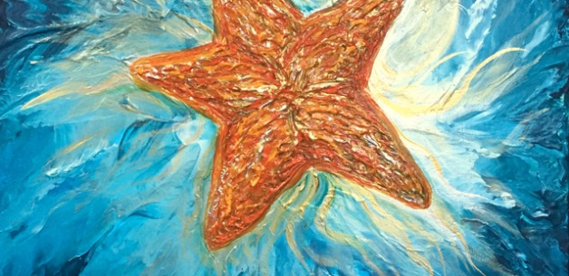A Starfish Commission Painting in the Making!