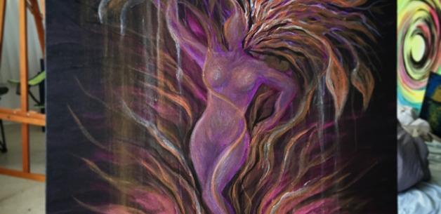 Latest Creation: Purple Tree Goddess