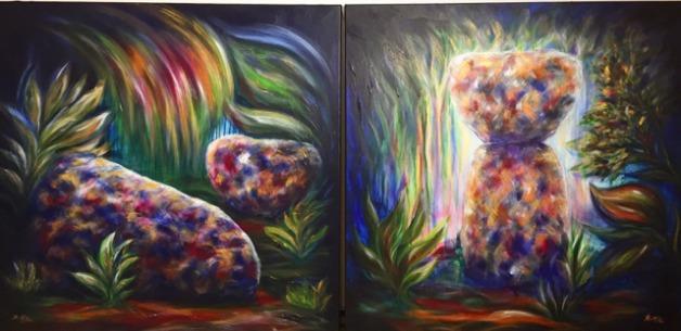 King's Restaurant Guam Commission Artworks