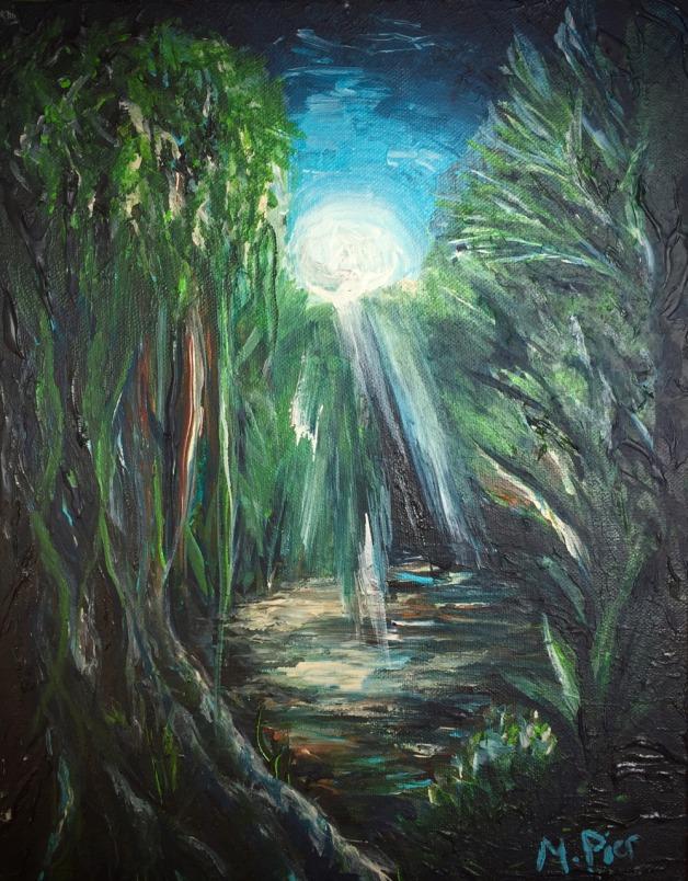 Moonlit Jungle- SOLD