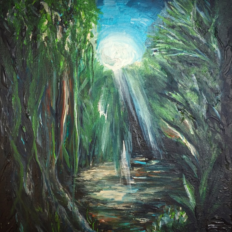 Moonlit Jungle- SOLD