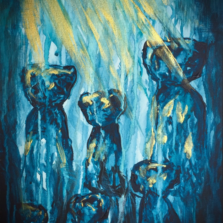 Blue Latte Stone Cluster
