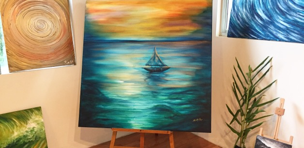 Latest Artwork: Reflections of Peace acrylic painting