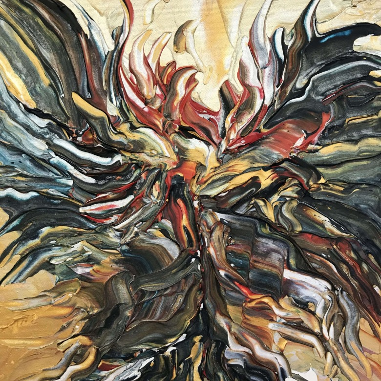 Abstract Cockfight