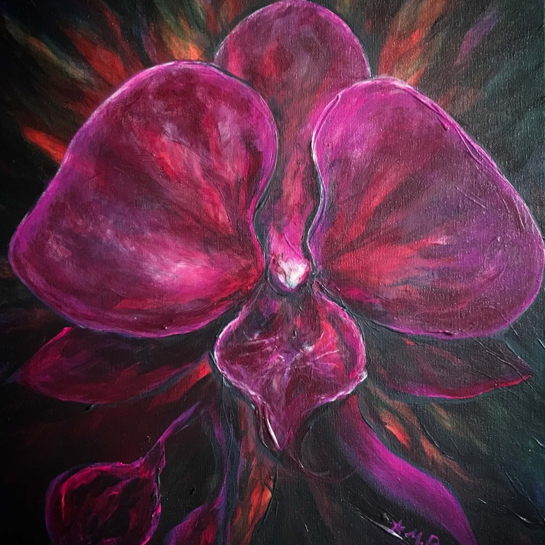 Purple Orchid- SOLD