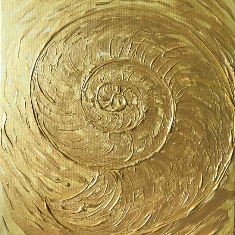 Abstract Golden Nautilus