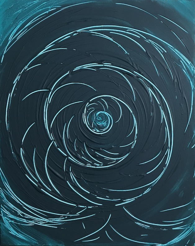 Abstract Teal Nautilus