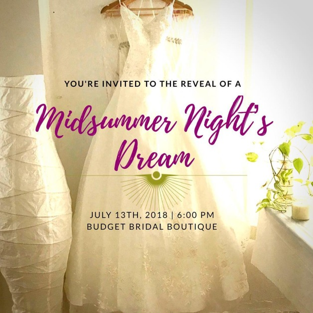 POSTPONED: Midsummer Night's Dream Dress Reveal