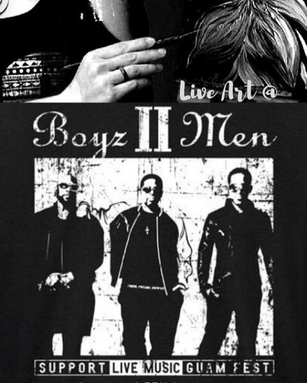 Live Art at Boyz II Men Concert on Guam
