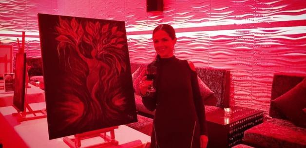 Sassy 'n' Classy Ladies Night at The Globe Featuring my Artwork