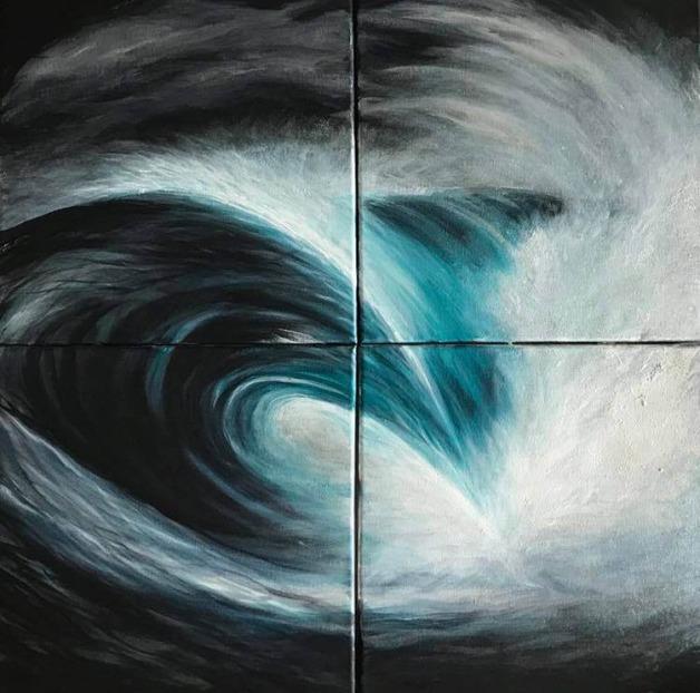 Moody Wave Break