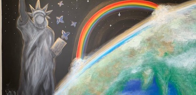 Playroom Earth Mural 3
