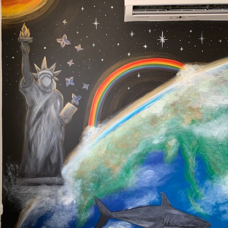 Playroom Earth Mural 3