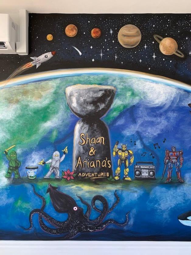 Playroom Earth Mural 4