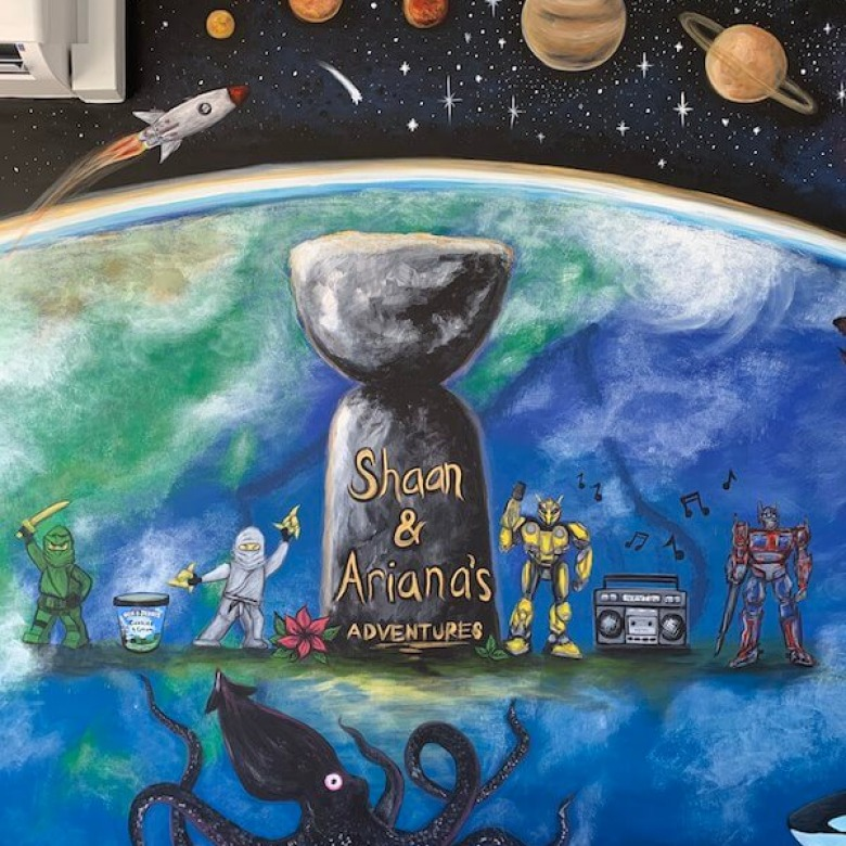 Playroom Earth Mural 4