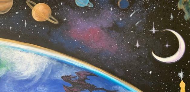 Playroom Earth Mural 5