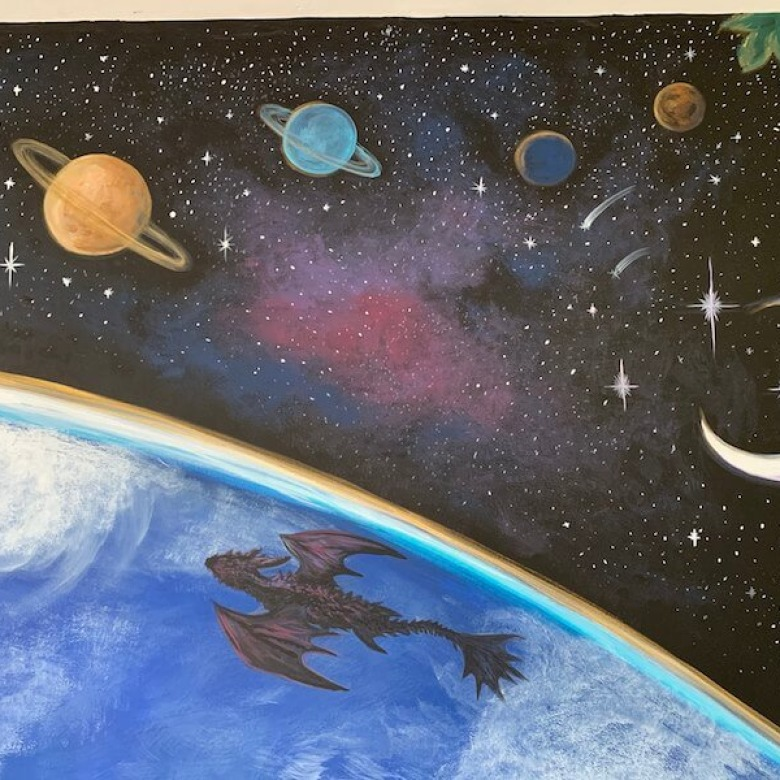 Playroom Earth Mural 5