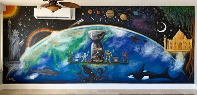 Playroom Earth Mural 2