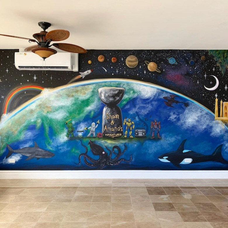 Playroom Earth Mural 2