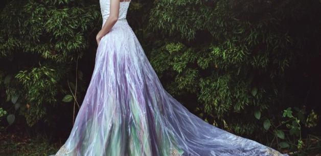 Midsummer Night's Dream Painted Wedding Dress