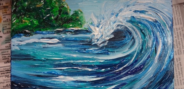 Making waves, in the world, on the canvas