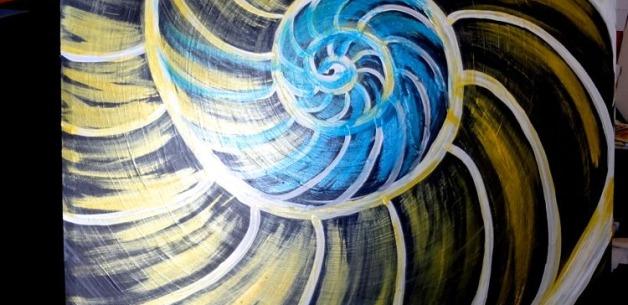 Creative Spotlight: Nautilus Painting In Progress PART 1