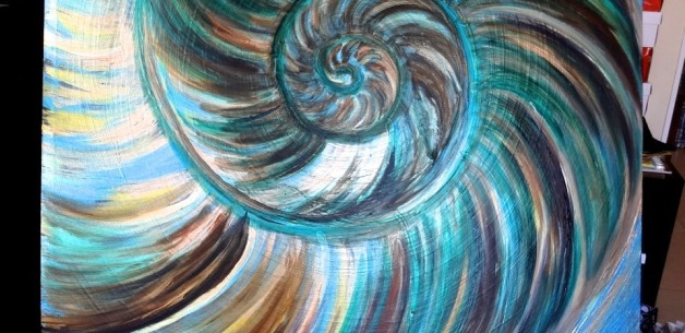 Creative Spotlight: Nautilus Painting in Progress PART 2