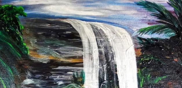 Creative Spotlight: San Carlos Waterfall Guam Painting Time Lapse