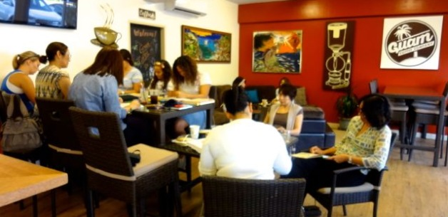 Art Journaling Creative Sessions at Guam Coffee
