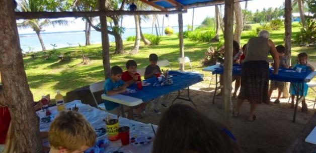 Kids Creative Art Session at Jeff's Pirates Cove on Guam