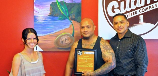 Ben Quinata wins 1st place in the Creative Indeed & Guam Coffee Art Competition