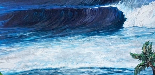 Creative Spotlight: Waves Commission Painting Start to Finish